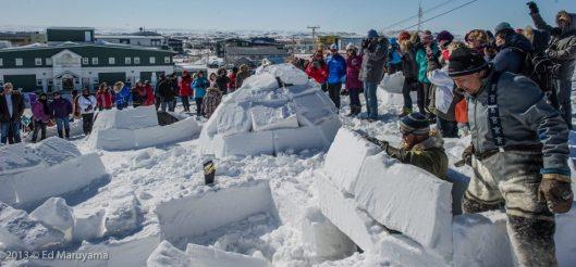 Concours de construction d'igloo.