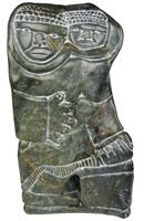 Charlie Inukpuk, Mère et enfant, 1999, 11 x 6 x 3.5 in., Inukjuak. [oeuvre disponible à la vente sur notre site: http://www.inuitartzone.com/SearchResults.asp?Search=inukpuk&Submit=Go]